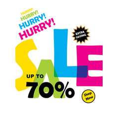 big offer sale banner design vector image