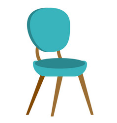 blue modern chair cartoon vector image