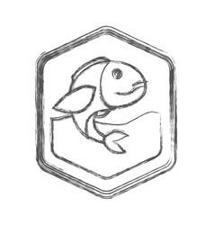 blurred sketch silhouette of diamond shape emblem vector image vector image