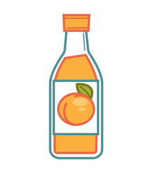Bottled apricot juice vector
