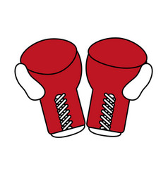 boxing gloves sport flat vector image