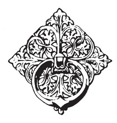 Bronze ornament is a twelfth century bronze vector