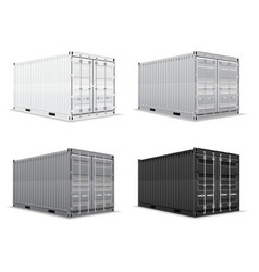 cargo container 012 vector image vector image