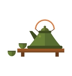 Chinese tea symbols Traditional eastern vector image