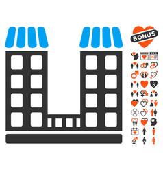 company icon with dating bonus vector image