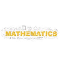 creative of mathematics with line icon vector image vector image