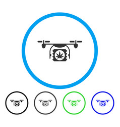 drugs drone shipment rounded icon vector image vector image