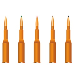 five cartridges vector image