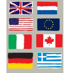 Flags brush vector image