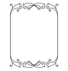 floral ornamental frame vector image