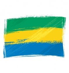 grunge gabon flag vector image vector image