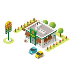 isometric fast food vector image