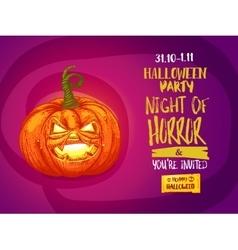 Jack pumpkin party invitation vector image