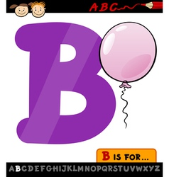 letter b with balloon cartoon vector image vector image