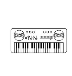 Line piano musical instrument to play music vector
