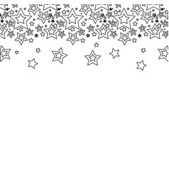 Line stars christmas decoration backgroud vector
