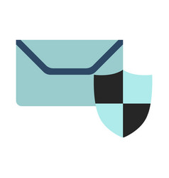 mail on protect icon flat vector image
