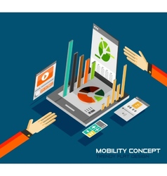 Mobility concept flat design vector image