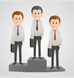 Office man on a pedestal vector