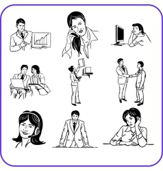 Office workers - business set vector image