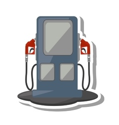 Oil service station pump isolated icon vector