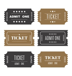 Paper tickets with numbers Set of templates entry vector image