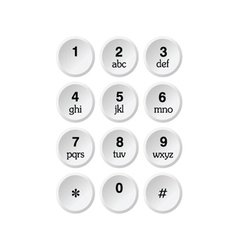 phone dialer vector image vector image