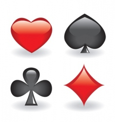 playing card icons vector image