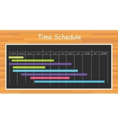 Project timeline schedule vector