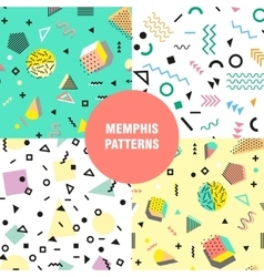 Retro vintage 80s or 90s fashion style Memphis vector image vector image