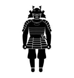 samurai japan warrior icon black color fill vector image vector image