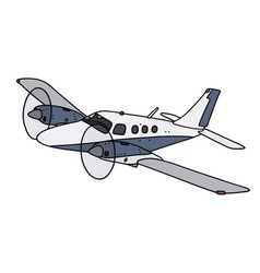 Small twin engine airplane vector image