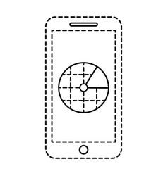 smartphone gps navigation screen blank app vector image vector image