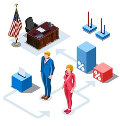 Election infographic us presidents isometric vector