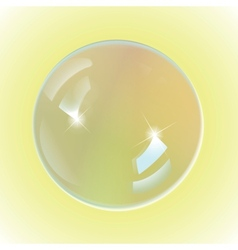 bubble white on yellow background vector image