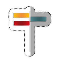 color differents route advices icon vector image