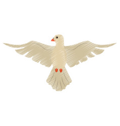 drawing holy spirit dove symbol vector image