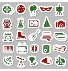 Entertainment stickers vector