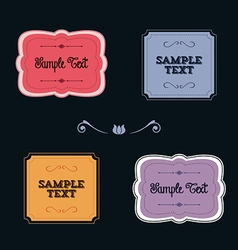 Colorful ornate frames and borders vector