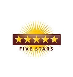 5 stars icon vector image vector image