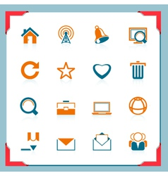 Internet icons in a frame series vector