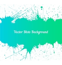Blue green ink splashes over white vector