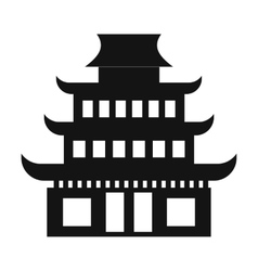 Pagoda simple icon vector