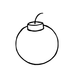 Bomb doodle hand drawn object for design vector