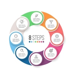 Circular infographics business diagram with 8 vector