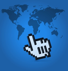 World click pointer vector