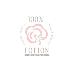 Cotton product logo design vector