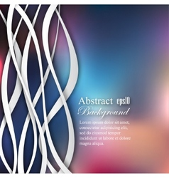 Abstract lines on blur background vector
