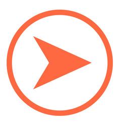 arrow sign linear circle icon vector image