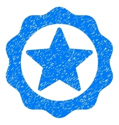 Award star seal grainy texture icon vector
